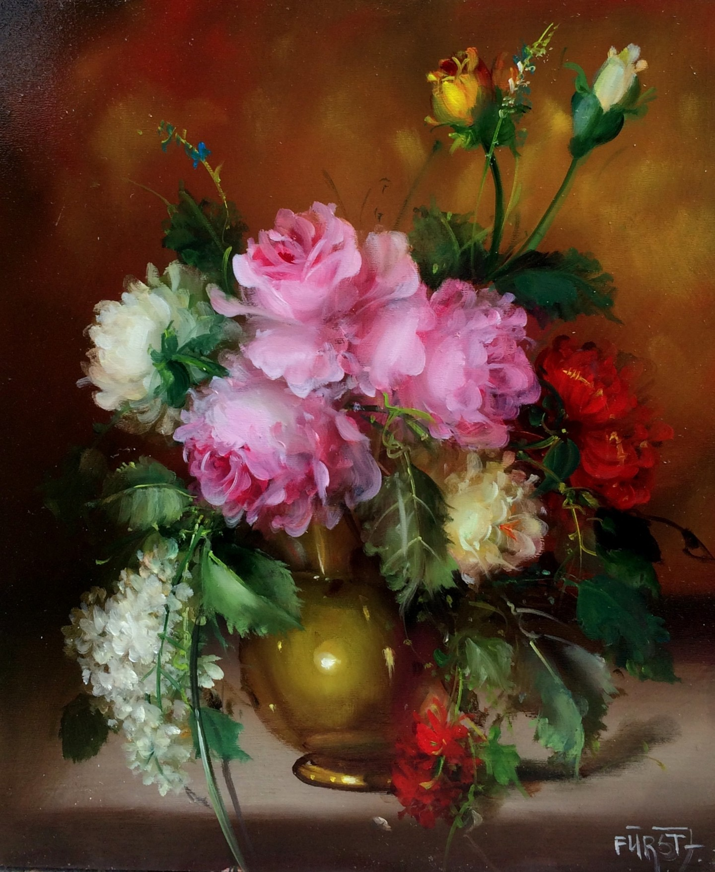József Fürst - Flavour of roses (Acrtwork to order)