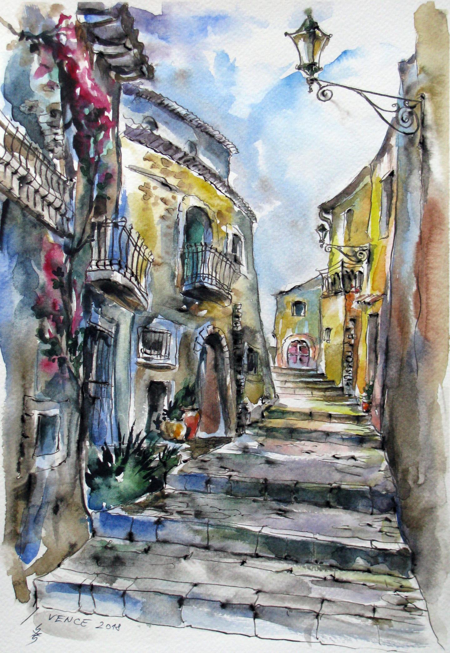 Zsolt Székelyhidi - Walk around old town Vence