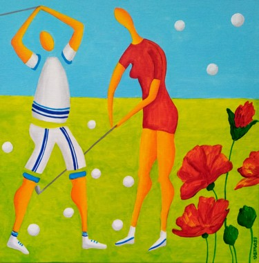 Golfers 1 (artwork to order)